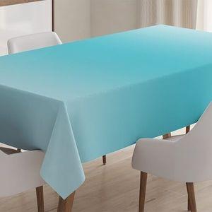 """Tablecloth 52"""" x 70"""" Sky Blue Ombre Fade Print"""
